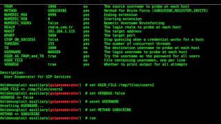 Penetration Testing for SIP/VoIP Services (Using Metasploit Framework)
