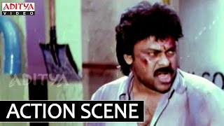 Hitler Telugu Movie Climax Fight Scene - Chiranjeevi,Rambha