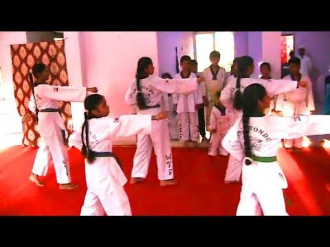 15 Girls Taekwondo Players From Hyderabad Are Taking Part In Genis Book World Records.
