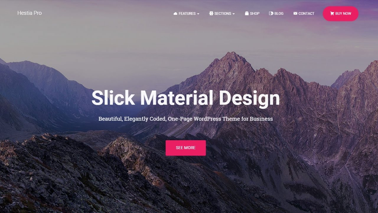 Hestia - Multipurpose WordPress Theme With Slick Material Design