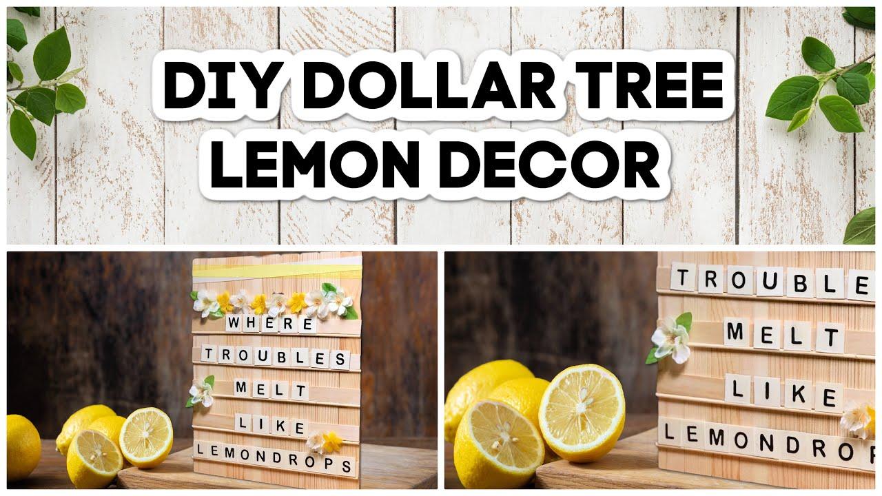 DIY Farmhouse Wood Letter Board | Lemon Dollar Tree Room Decor 2021 | Easy Dollar Tree DIYs
