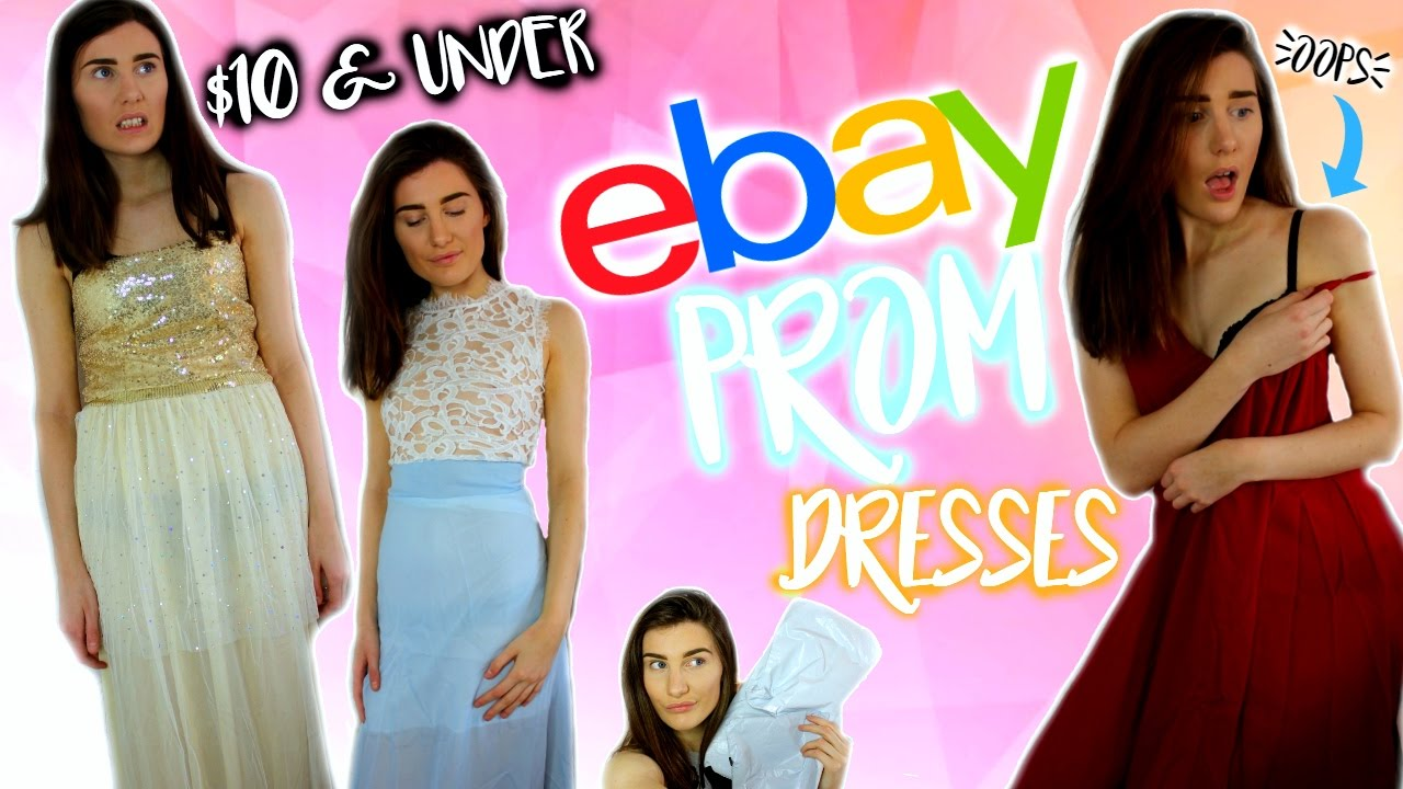 TRYING ON $10 PROM DRESSES FROM EBAY - YouTube