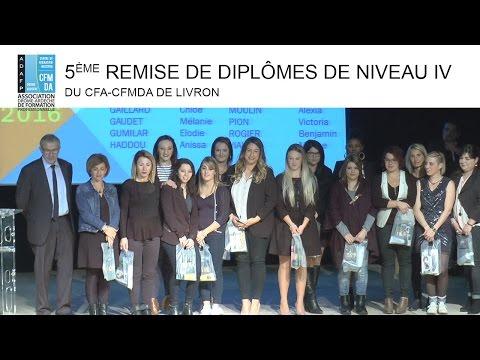 Actu Remise des Diplomes CFA de livron le 7 novembre 2016