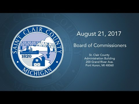 August 17th, 2017 - St. Clair County Board of Commissioners Meeting