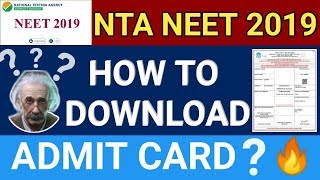 NEET Admit Card 2019, Hall Ticket, Releasing Date | How to Download  NEET 2019 Admit Card