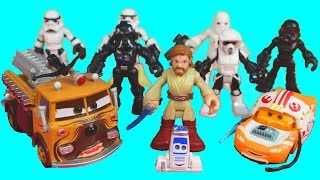 Star Wars Jedi Starfighter Darth Maul Stormtrooper set Battle Disney Pixar Cars McQueen Mater