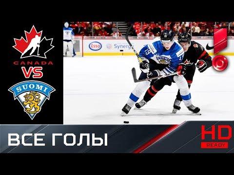 02.01.2019 ЧМ U-20. Канада - Финляндия - 1:2 (ОТ). Голы 1/4 финала