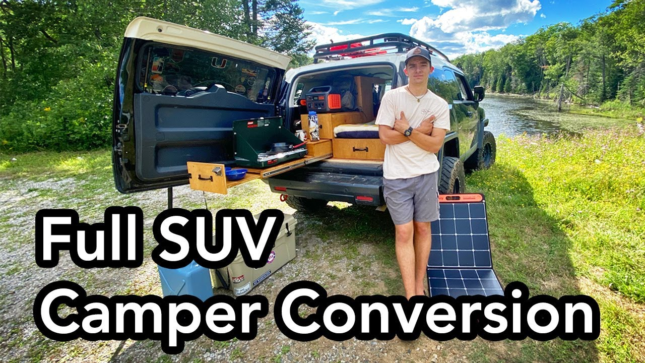 21 Year Old Builds an Amazing SUV Camper Conversion