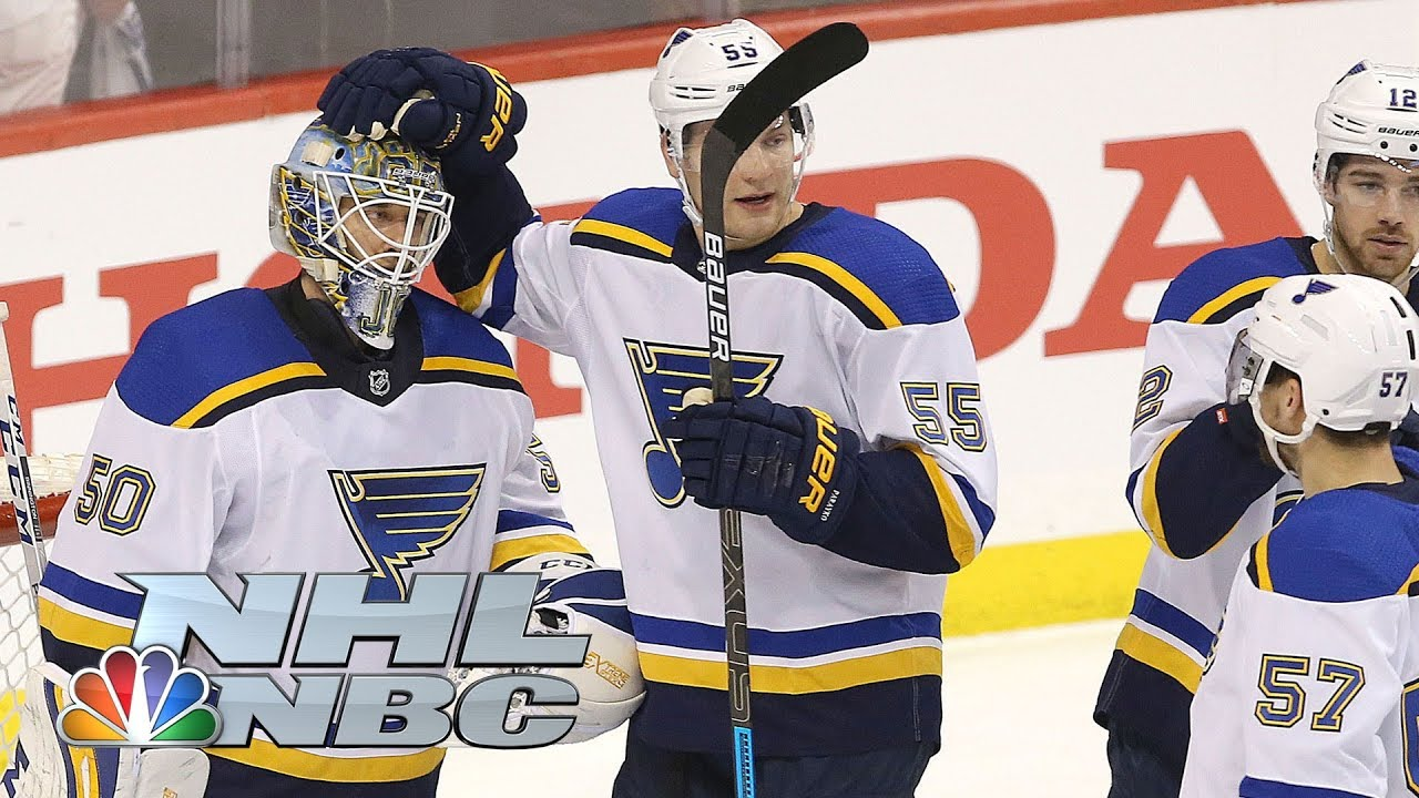 Blues steal another road win, stave off Stars' rally to take 2-1 series lead
