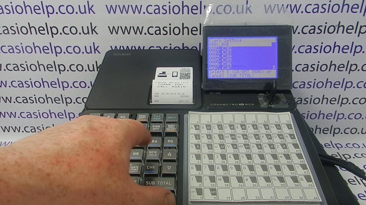 Cashier Log In On The Casio Sr C550 Cash Register Youtube