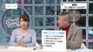 """TOKYO MX 「チェックタイム」2013/2/4 放送 業界初!""""ジュニア向けスマ..."""