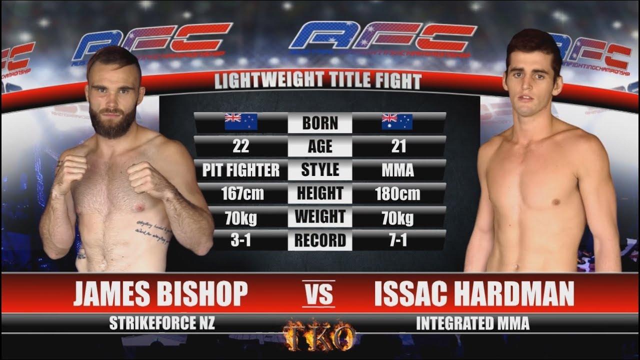 70kg吧_AFC 19 - James Bishop Vs Issac Hardman - Lightweight Title Fight - YouTube