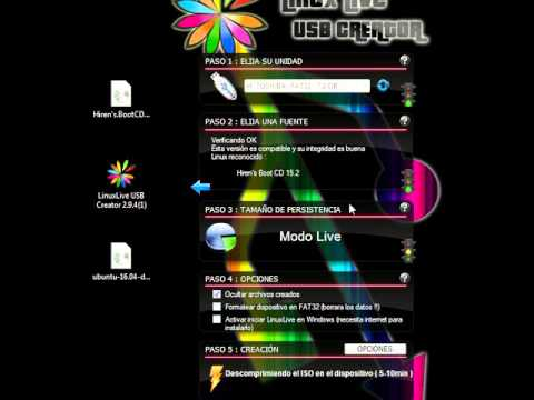 Minitutorial Linux Live USB Creator