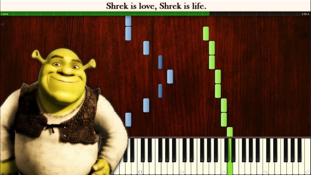 Synthesia Shrek Is Love Shrek Is Life Piano Tutorial Midi Youtube