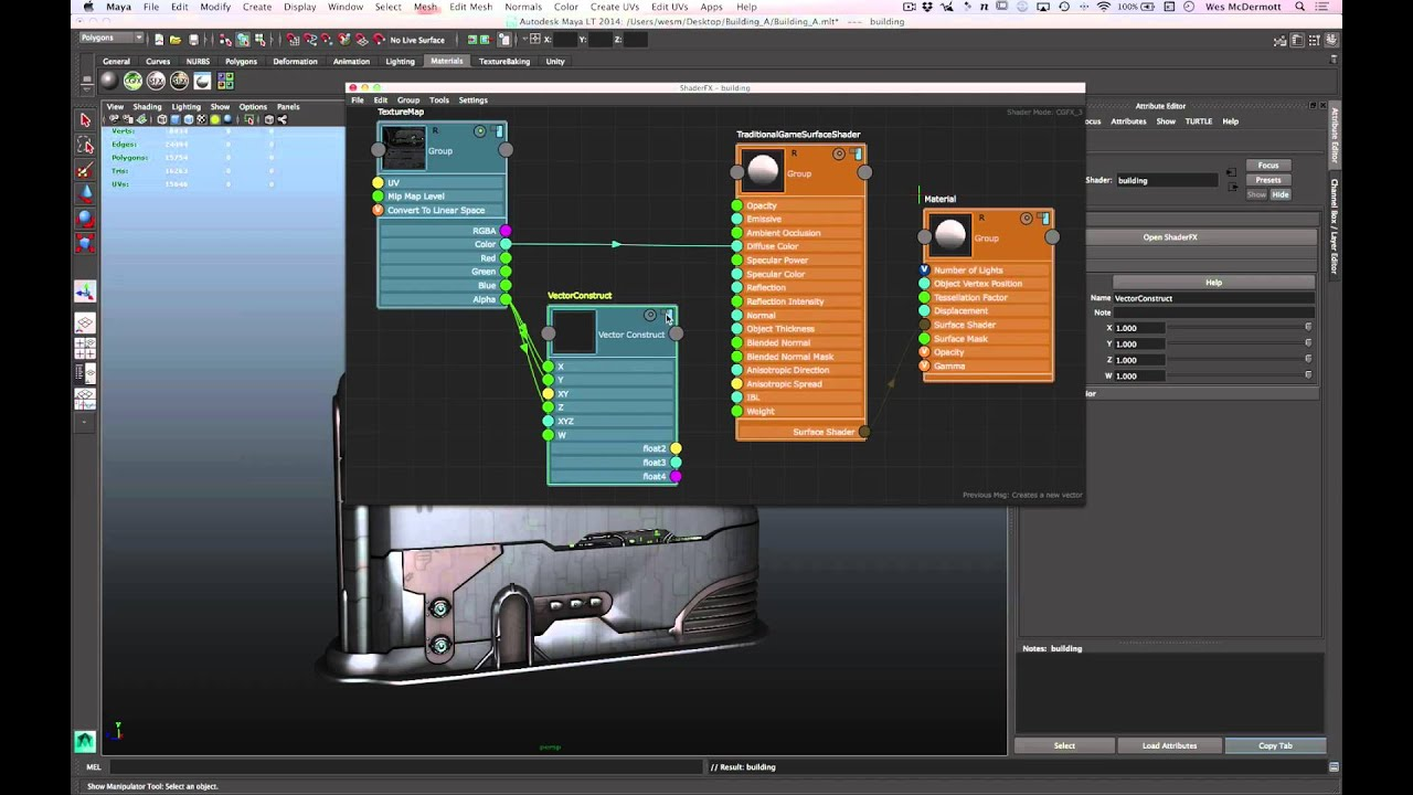 Maya LT for Unity Developers: Material Creation and Adjustment