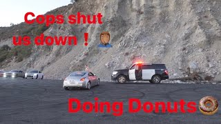 Police caught us Doing Donuts In the Canyons! Cars Almost Crash