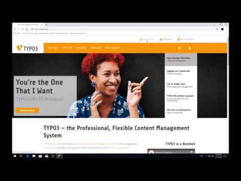 How to install Typo3   9 LTS