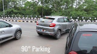 Learn 90 degree reverse Parking technique   Kwid Baleno Spark