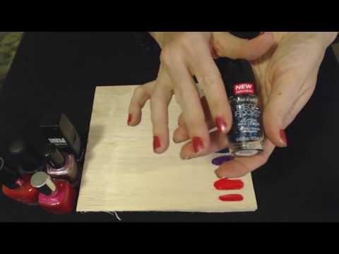 ASMR Soft Spoken ~ Nail Polish Show & Tell / Demonstration