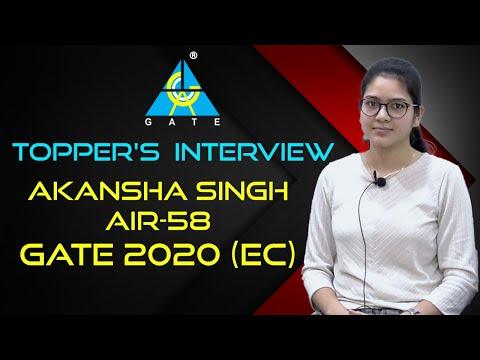 Topper's Interview | Congratulations Akansha Singh For AIR 58 | EC | GATE 2020