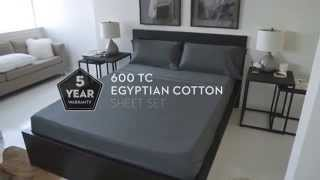 Malouf 600 Thread Count Egyptian Cotton Sheet Set