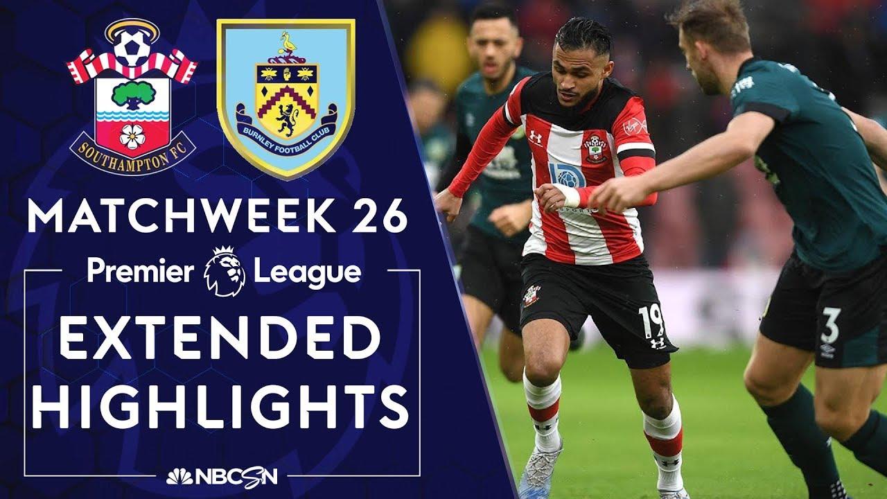 Southampton v. Burnley | PREMIER LEAGUE HIGHLIGHTS | 2/15/2020 | NBC Sports