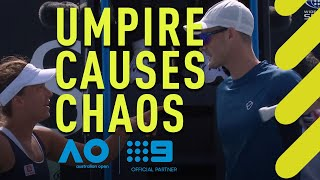 Umpire's decision sparks chaos at the Australian Open | Wide World of Sports
