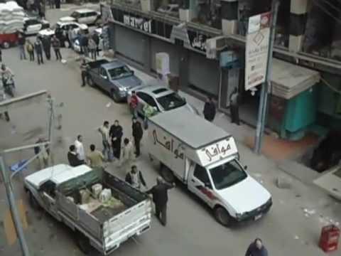 مشهد بلطجة بامتداد شارع المستشفى العام بالمنصورة