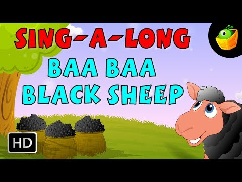 Karaoke: Baa Baa Black Sheep - Songs With Lyrics - Cartoon/Animated Rhymes For Kids