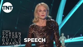 Nicole Kidman: Acceptance Speech | 24th Annual SAG Awards | TNT