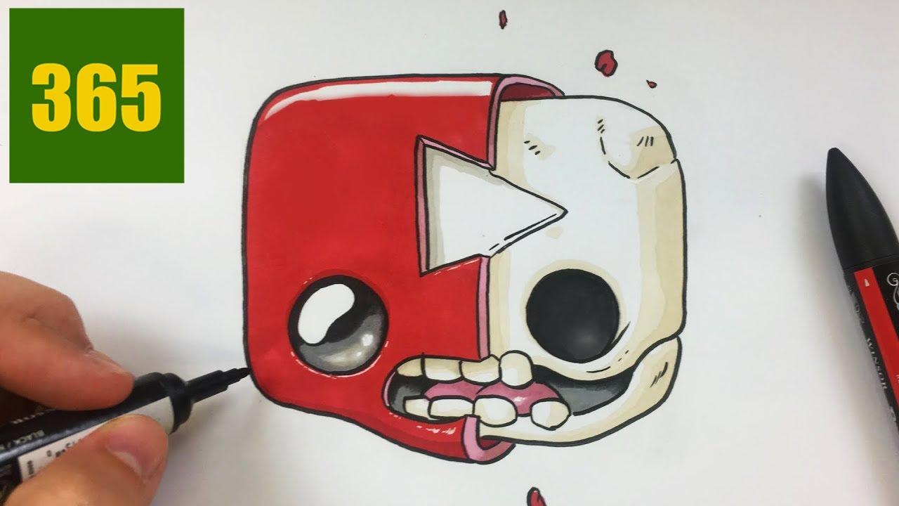 Comment Dessiner Logo Youtube Kawaii Ouvrir Le Bouton Youtube