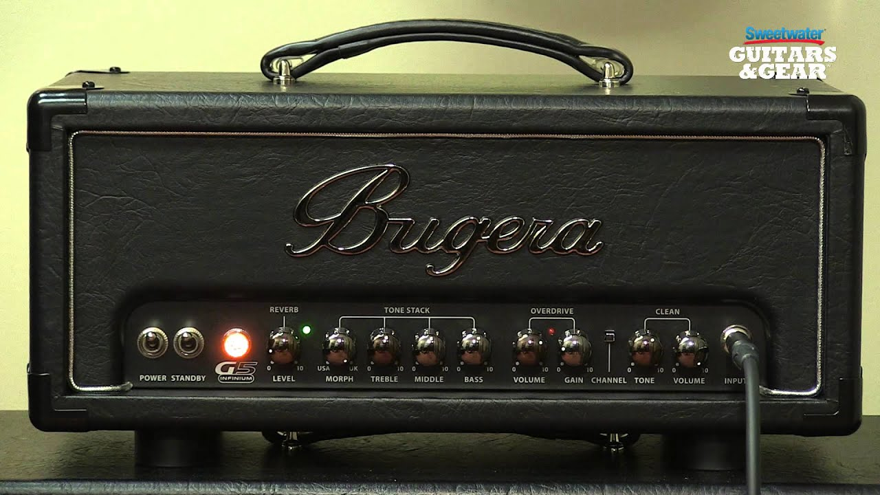 bugera g5 infinium tube amplifier head review by sweetwater sound youtube