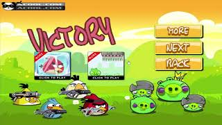 Angry Birds Ultimate Battle - SHOOTING PIGGIES TO RESCUE BOMBER BIRD