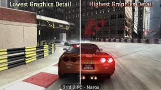 Split Screen Compare  Graphics Detail Lowest vs. Highest Setting  GRID 2 PC