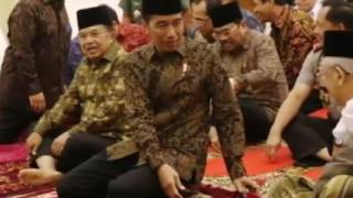 Perhatikan Yang Terjadi Saat Presiden Jokowi Buka Puasa Bersama Dengan Menteri Kabinet Kerja