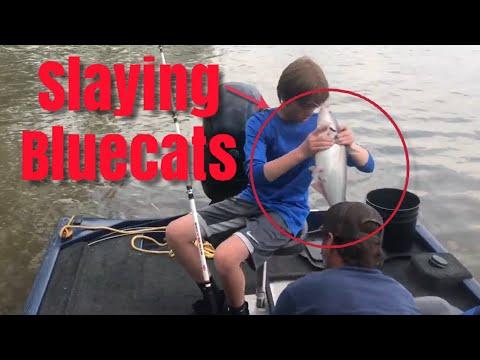 Oklahoma Flood Catfish Fishing We Slayed Them!!!