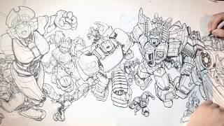 DRAWING TRANSFORMERS! ROM! MASK! GIJOE! ACTION MAN! MICRONAUTS! & VISIONARIES! thumbnail