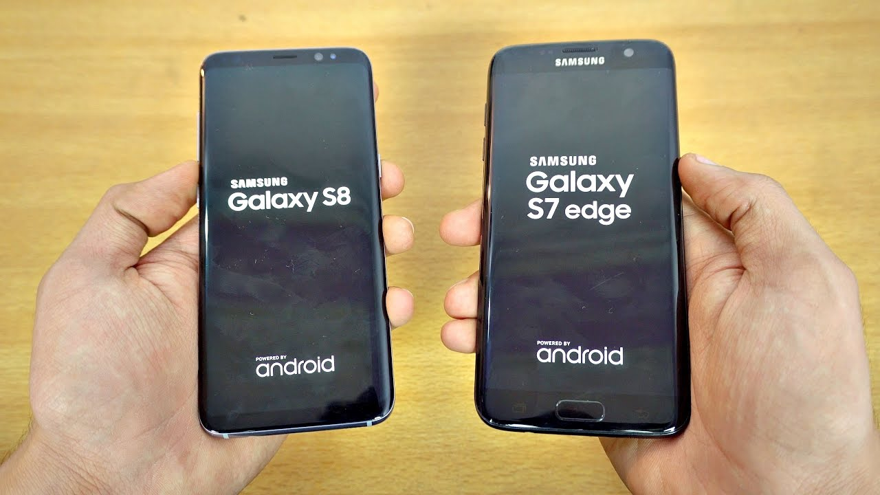 samsung galaxy s8 vs galaxy s7 edge speed test 4k doovi. Black Bedroom Furniture Sets. Home Design Ideas