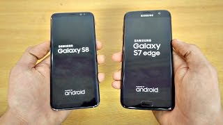 Samsung Galaxy S8 vs Galaxy S7 Edge - Speed Test! (4K)