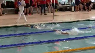 WVZ  Tygo van Hassel 50 m Vlinder LB Sprint kampioenschappen 2016 05 14 Brons Baan 8