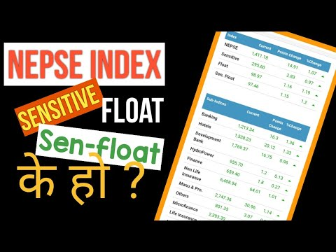 What is nepse sensitive index |Nepse index meaning | Sensitive index meaning |Sensitive float index