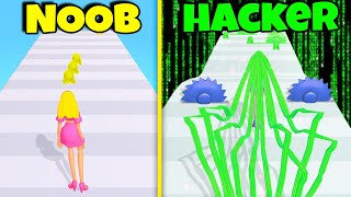 Becoming HACKER Level In Hair Rush Challenge!