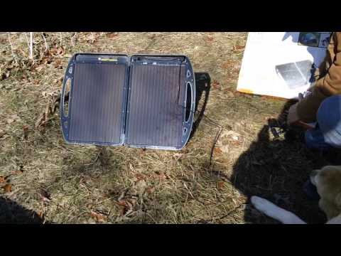 Review of Harbor Freight 13 Watt Solar Briefcase