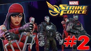 Marvel Strike Force - Gameplay Walkthrough Part 2 - Elektra