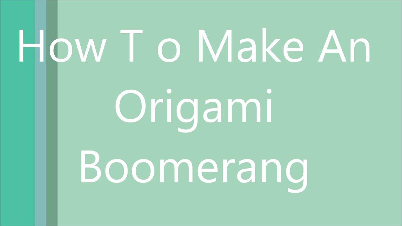 how to make an enchanted boomerang