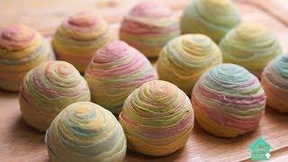 【彩虹酥顏色】「彩虹酥顏色」#彩虹酥顏色,如何制作彩虹千层...