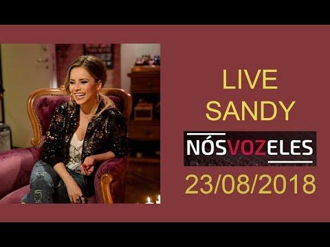 Live da Sandy no Instagram projeto Nós Voz Eles part. espec. Fernanda Souza - 23/08/2018