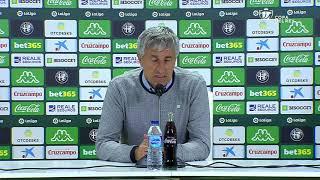 Rueda de prensa de Quique Setién tras el Real Betis vs Real Racing Club de Santander (4-0)