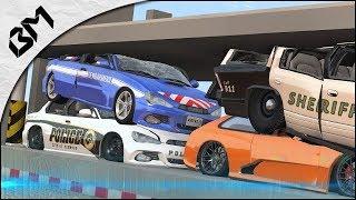 BeamNG Drive - VOITURES vs PRESSE HYDRAULIQUE - Destruction Crash