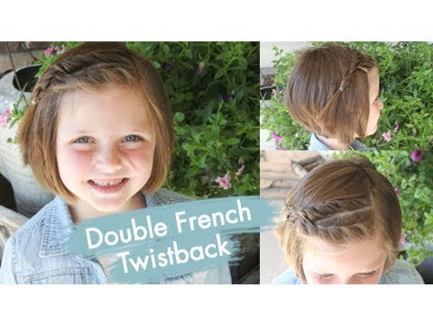 Double French Twistback Short Hair Cute Girls Hairstyles